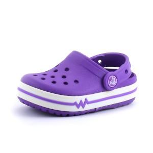 נעלי Crocs לפעוטות Crocs CrocsLights Clog PS - סגול