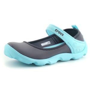 נעלי Crocs לנוער Crocs Duet Busy Day Mary Jane GS - אפור