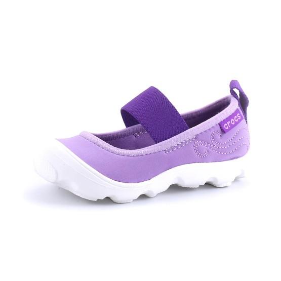 מוצרי Crocs לפעוטות Crocs Duet Busy Day Mary Jane PS - סגול