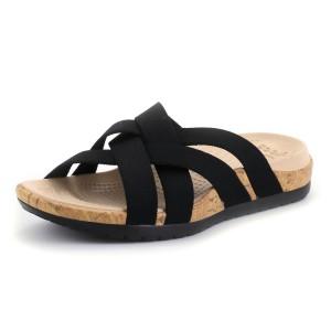 נעלי Crocs לנשים Crocs Edie Stretch Sandal W - שחור