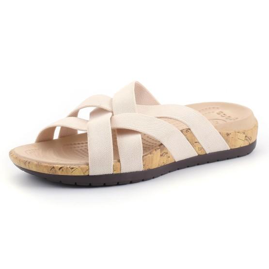 מוצרי Crocs לנשים Crocs Edie Stretch Sandal W - בז'