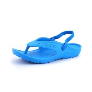 נעלי Crocs לילדים Crocs Hilo Flip K - תכלת