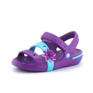 נעלי Crocs לפעוטות Crocs Keeley Sandal Girls - סגול