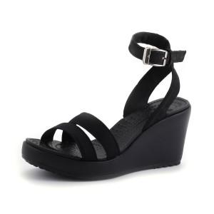 נעלי Crocs לנשים Crocs Leigh Wedge - שחור