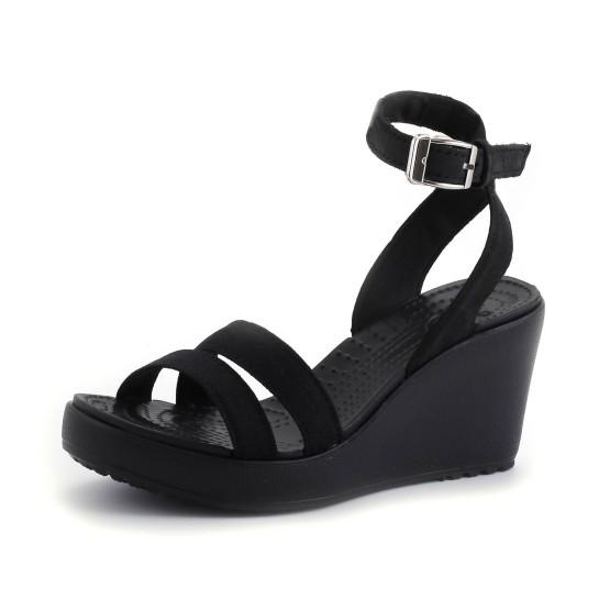 מוצרי Crocs לנשים Crocs Leigh Wedge - שחור