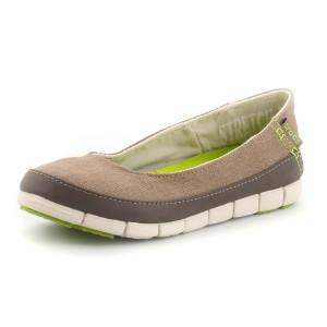 נעלי Crocs לנשים Crocs Stretch Sole Flat W - חאקי