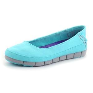 נעלי Crocs לנשים Crocs Stretch Sole Flat W - תכלת