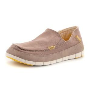 נעלי Crocs לגברים Crocs  Stretch Sole Loafer M - בז'