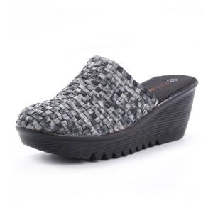 נעלי ברני מב לנשים Bernie Mev  Mule - שחור/לבן