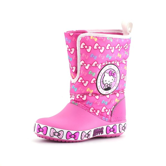 מוצרי Crocs לפעוטות Crocs CB Hello Kitty Gust Boot EU - ורוד