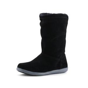 נעלי Crocs לנשים Crocs Adela Foldover Fuzz Bootie - שחור