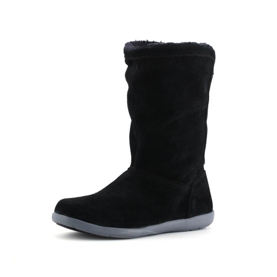 מוצרי Crocs לנשים Crocs Adela Foldover Fuzz Bootie - שחור