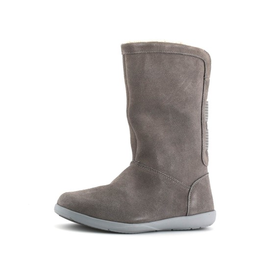 נעלי Crocs לנשים Crocs Adela Foldover Fuzz Bootie - אפור