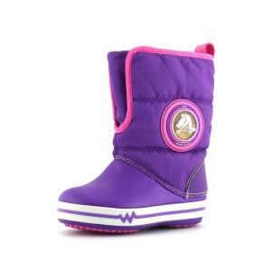 נעלי Crocs לפעוטות Crocs Lights Gust Boot PS - סגול