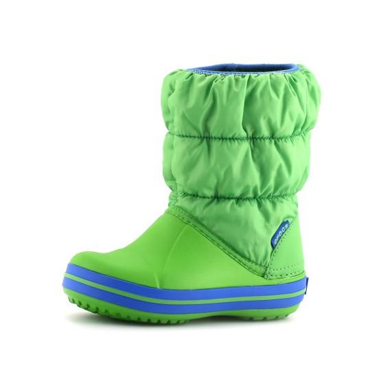 נעלי Crocs לפעוטות Crocs Winter Puff Boot Kids - ירוק