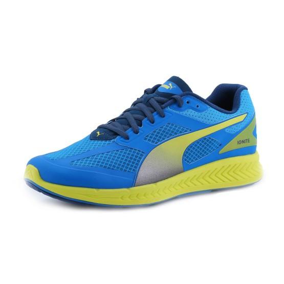 נעלי פומה לגברים PUMA Ignite Mesh - כחול/צהוב