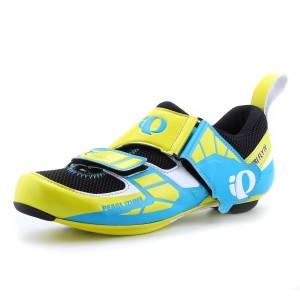 נעלי פרל איזומי לגברים Pearl Izumi Tri Fly Carbon - כחול/צהוב