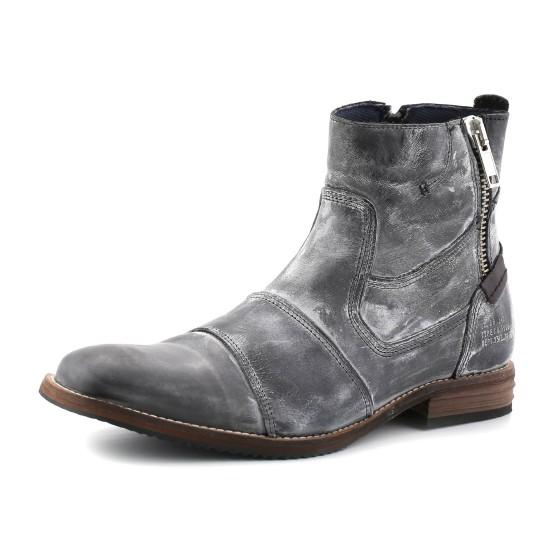 נעלי בולבוקסר לגברים Bullboxer Grant Zipper - שחור