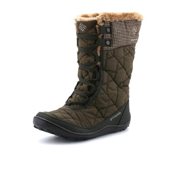 נעלי קולומביה לנשים Columbia Minx Mid Omni-Heat Tweed - ירוק כהה