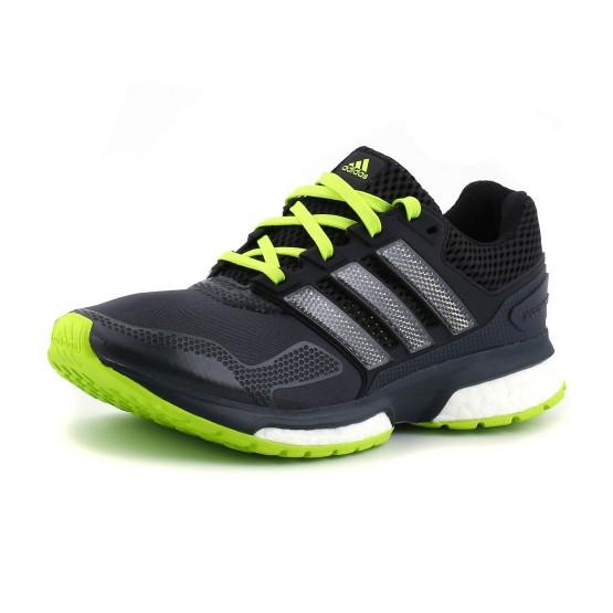 נעלי אדידס לגברים Adidas Response Boost 2 Techfit - אפור כהה