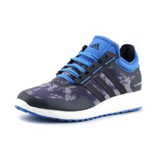 נעלי אדידס לגברים Adidas Rocket Boost - אפור/כחול