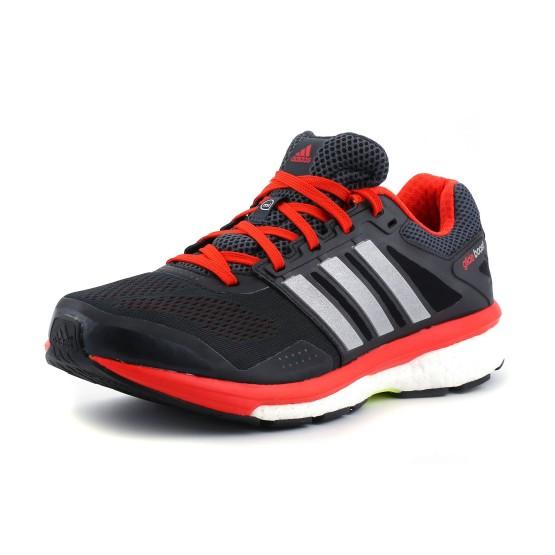 מוצרי אדידס לגברים Adidas Supernova Glide Boost 7 - אפור/אדום
