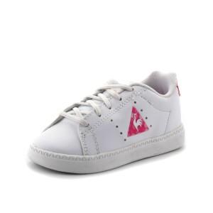 נעלי לה קוק ספורטיף לפעוטות Le Coq Sportif Courtone INF Lenticular - לבן/ורוד