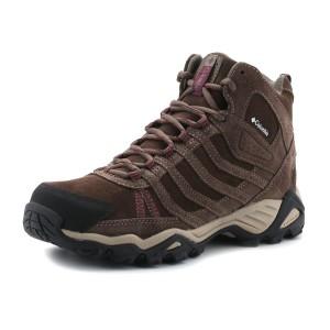 נעלי קולומביה לנשים Columbia Helvatia Mid Leather WP - חום
