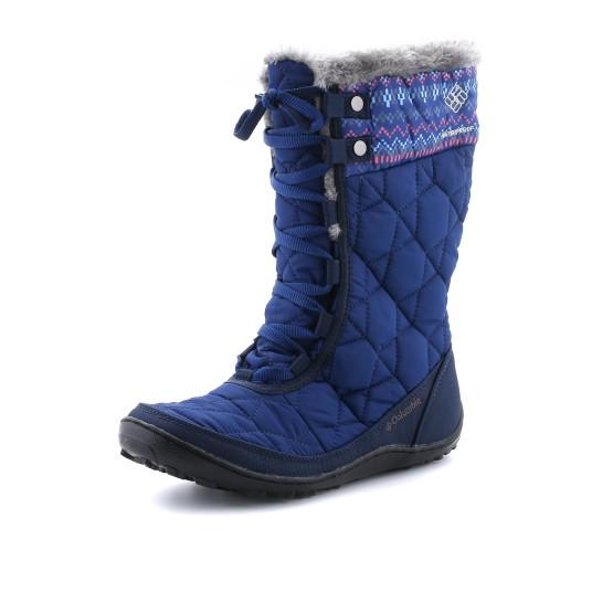 נעלי קולומביה לנשים Columbia Minx Mid Omni-Heat Print - כחול