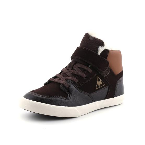 נעלי לה קוק ספורטיף לילדים Le Coq Sportif Peletier Suede PS - חום כהה