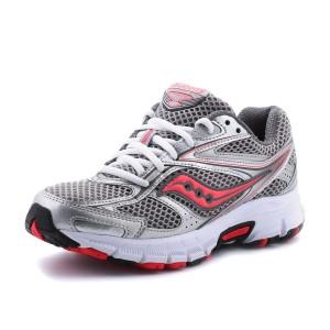 נעלי סאקוני לנשים Saucony Grid Cohesion 8 - אפור/אדום