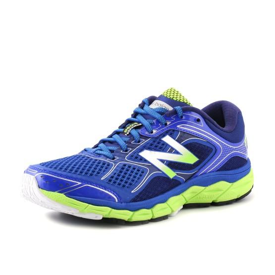 נעלי ניו באלאנס לגברים New Balance  M860 V6 - כחול/צהוב