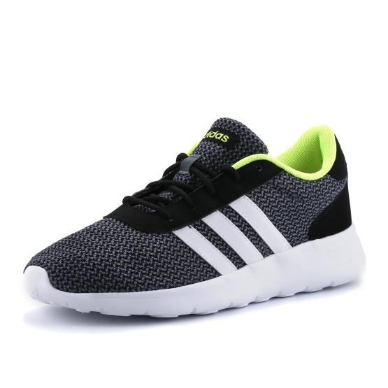 נעלי אדידס לגברים Adidas  Lite Racer - שחור/אפור