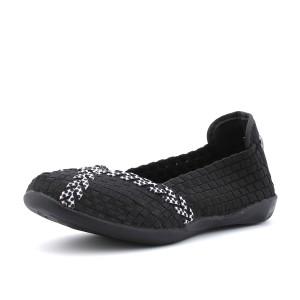 נעלי ברני מב לנשים Bernie Mev Braided Catwalk - שחור/לבן