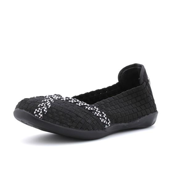 מוצרי ברני מב לנשים Bernie Mev Braided Catwalk - שחור/לבן
