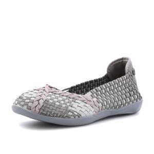 נעלי ברני מב לנשים Bernie Mev Braided Catwalk - כסף