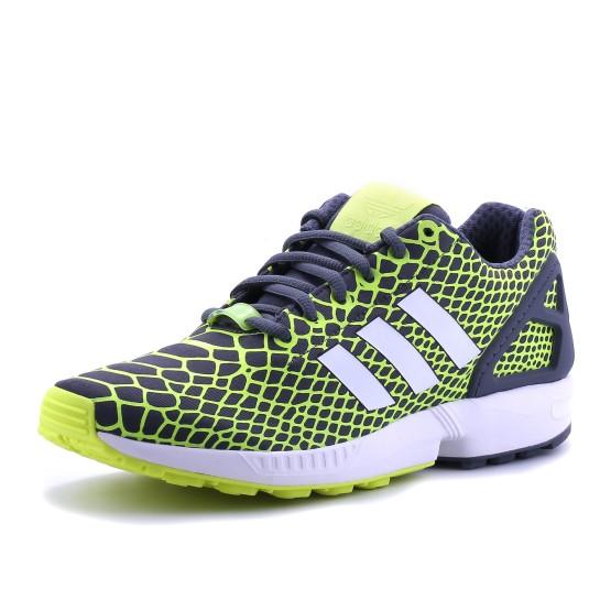 נעלי אדידס לגברים Adidas ZX Flux Techfit - צהוב