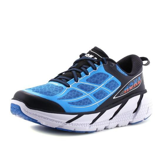 נעלי הוקה לגברים Hoka One One  Clifton 2 - שחור/כחול