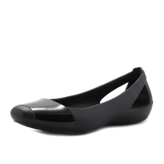 נעלי Crocs לנשים Crocs Sienna Shiny Flat - שחור