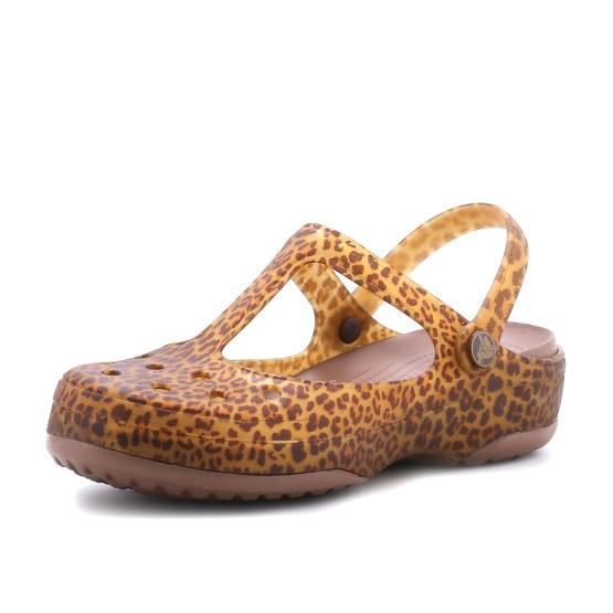 מוצרי Crocs לנשים Crocs Crocs Carlie Animal Wave MJ - מנומר