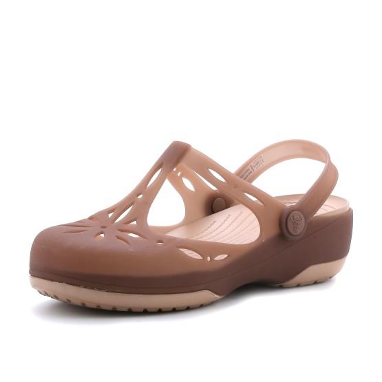מוצרי Crocs לנשים Crocs Carlie Cutout Clog - חום