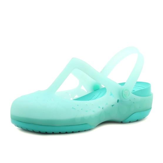 מוצרי Crocs לנשים Crocs Carlie MJ Flower - טורקיז