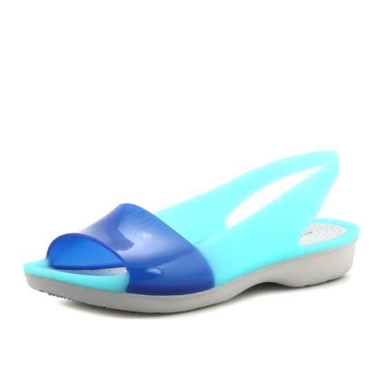 מוצרי Crocs לנשים Crocs Colorblock Flat - כחול