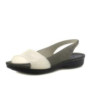 נעלי Crocs לנשים Crocs Colorblock Flat - אפור