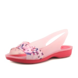 נעלי Crocs לנשים Crocs Colorblock Soft Floral - ורוד
