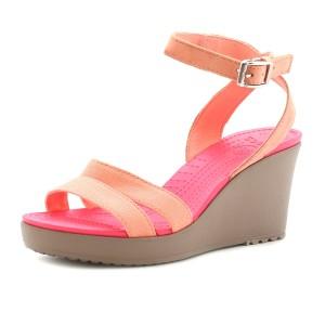 נעלי Crocs לנשים Crocs Leigh Wedge - ורוד בהיר