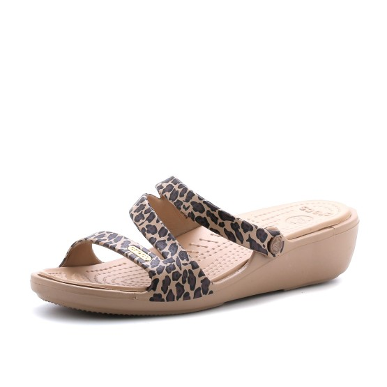 מוצרי Crocs לנשים Crocs Patricia Leopard Wedge - מנומר