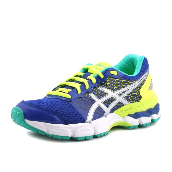 מוצרי אסיקס לנוער Asics Gel-Nimbus 18 GS - כחול/צהוב