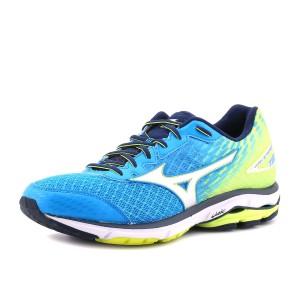 נעלי מיזונו לגברים Mizuno Wave Rider 19 - כחול/צהוב