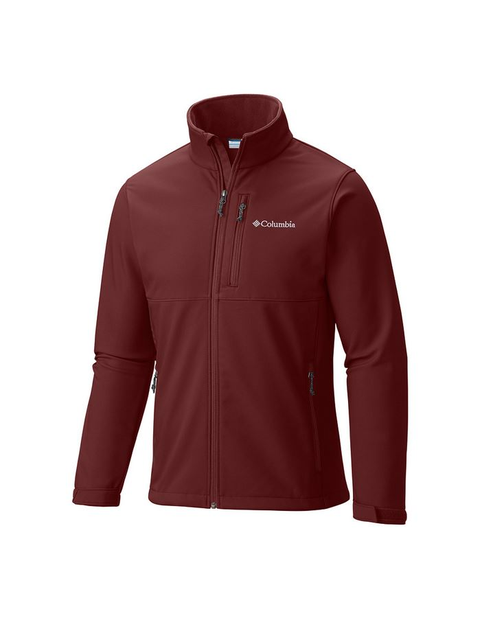 מוצרי קולומביה לגברים Columbia Ascender Softshell Jacket - בורדו